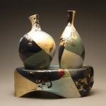 2 Vases w/Pedestal (alternate view)