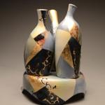 3 Vessels w/ Pedestal